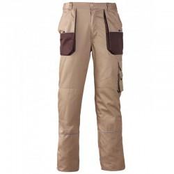 Pantalon beige polyester et coton
