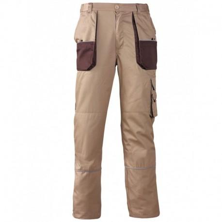 Pantalon beige polyester et conton