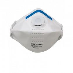 Demi-masque avec valve boite de 20 pièces FFP3 NR D