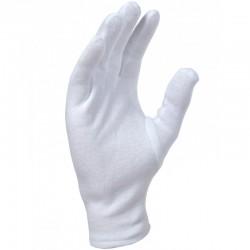 Gant en coton blanchi avec ourlet