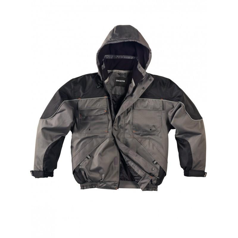 blouson de type aviateur protection contre le froid polyester. Black Bedroom Furniture Sets. Home Design Ideas