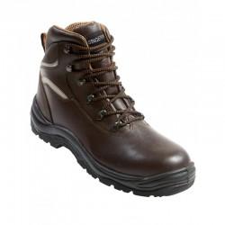 Chaussure de protection haute cuir fleur souple