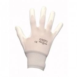 Gant enduit PU Blanc, noir ou gris sans couture léger