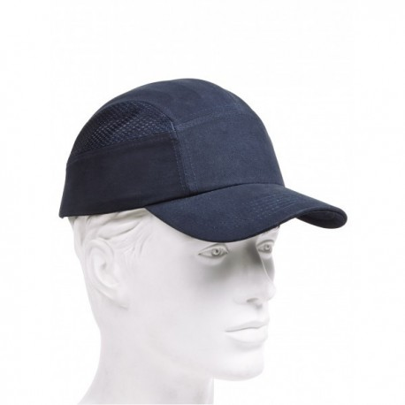Casquette anti-heurt aérée couleur bleu ou noir
