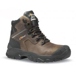 Chaussures de sécurité montantes cuir marron sur-embout - GREENLAND