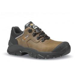 Chaussures de sécurité avec sur-embout renforcé en cuir hydrofuge marron - QUEBEC