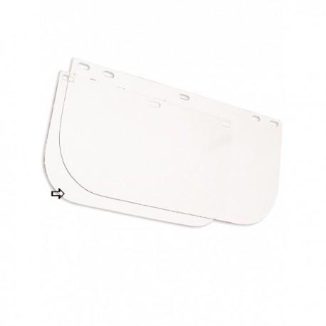 Visière polycarbonate incolore pour casque de sécurité EPI Tête accessoires casque de chantier