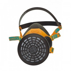Demi masque respiratoire caoutchouc 1 filtre