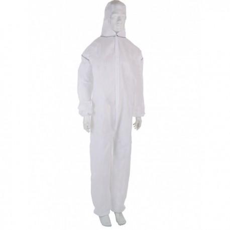 Combinaison EPI protection chimique type 5 & 6 - Blanc