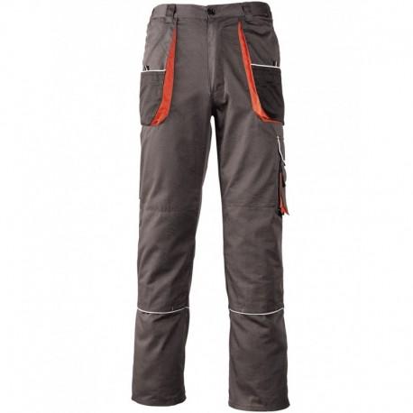 Pantalon de travail nombreuses poches gris et orange boutique en ligne professionnels