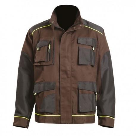 veste de travail marron avec nombreuses poches pratiques EPI Store