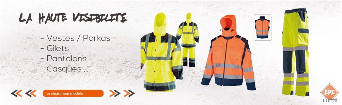 Retrouvez tous les produits d'équipement de protection individuelle Haute visibilité